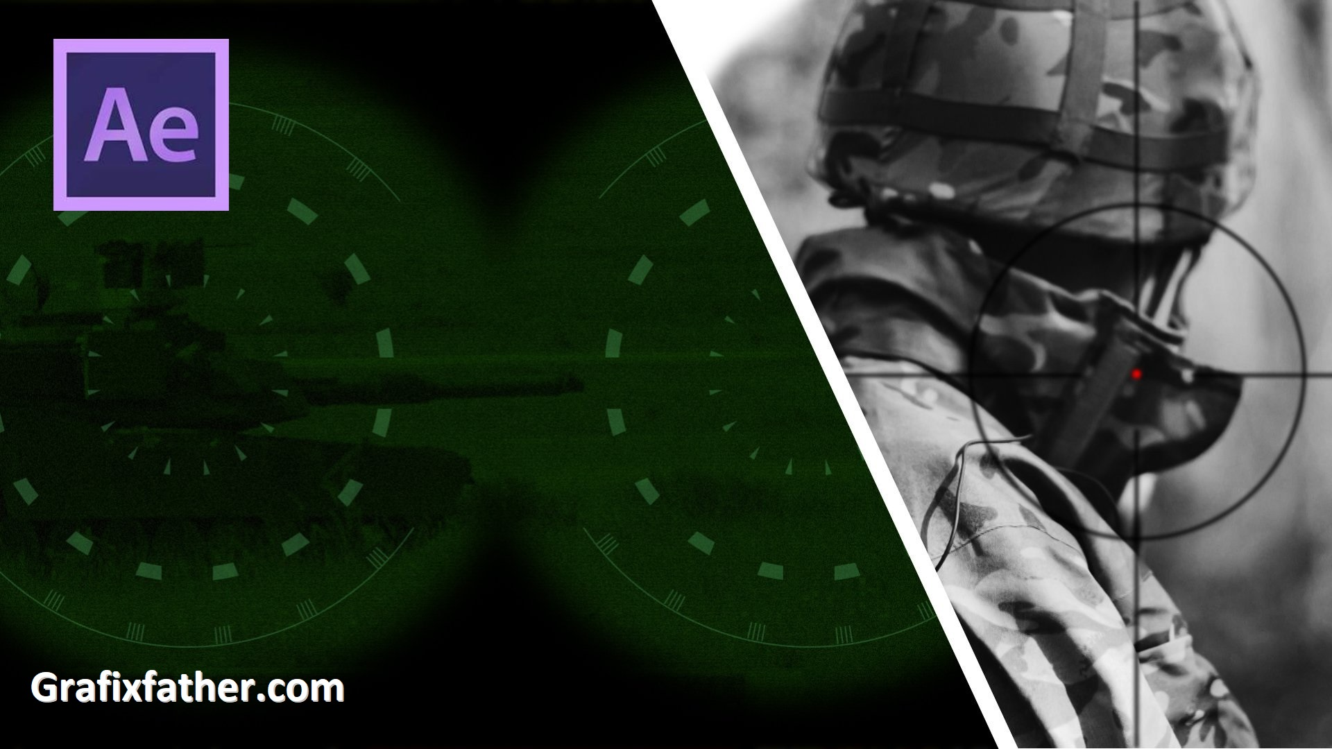 After Effects CC - Night Vision, Sniper Scope, Security Camera