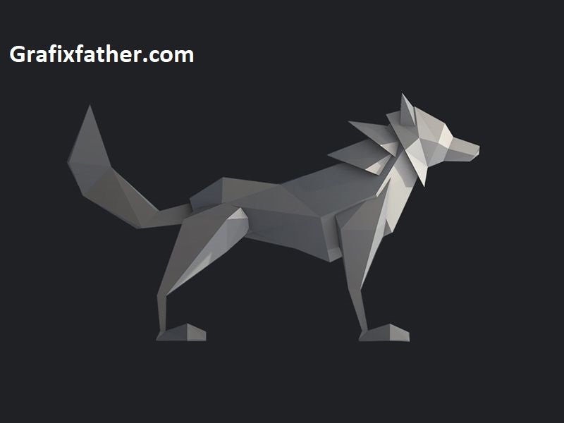 Learn Cinema 4D Low Poly Wolf