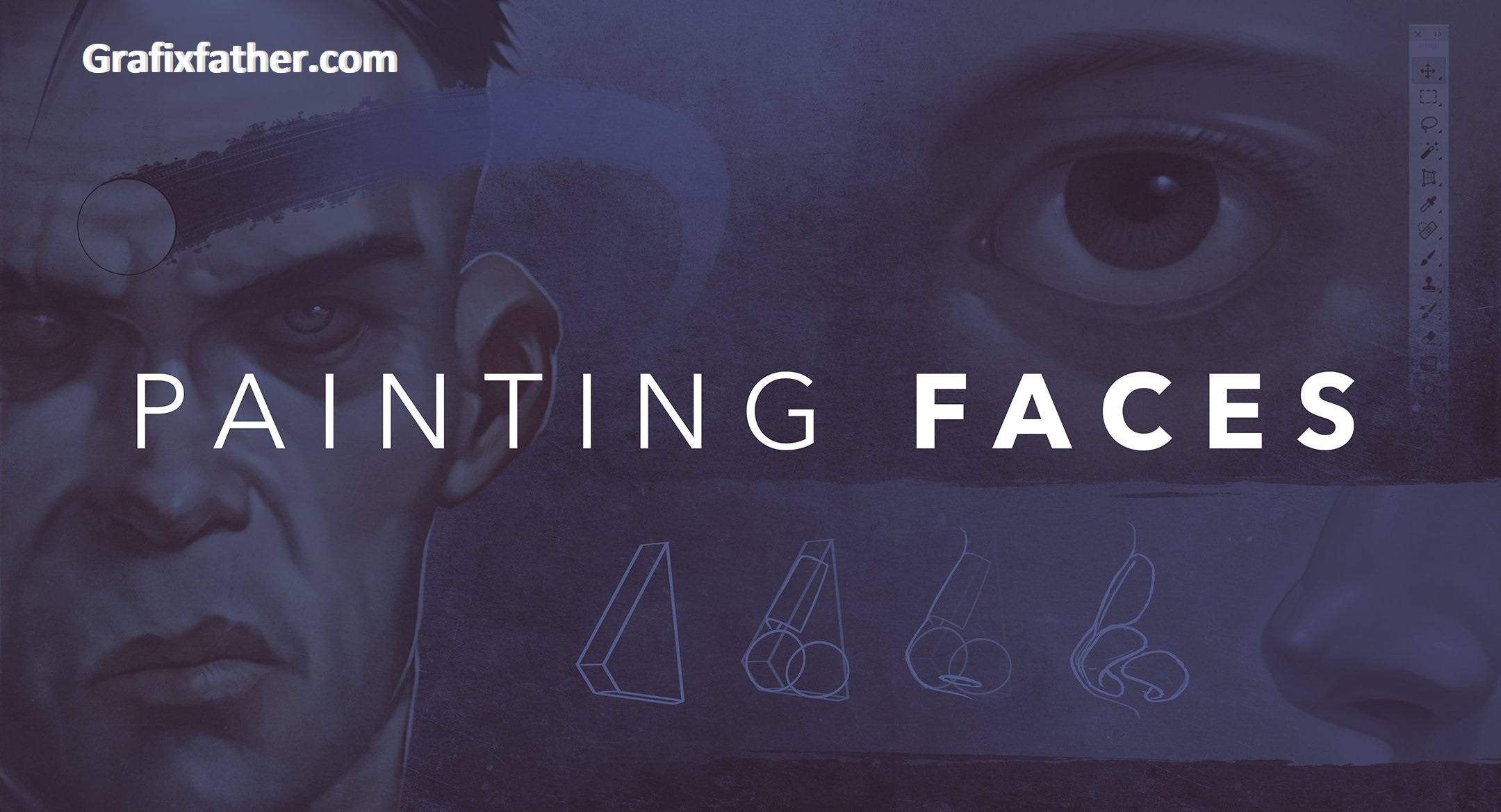 Painting Faces with the Power of Photoshop by Hardy Fowler