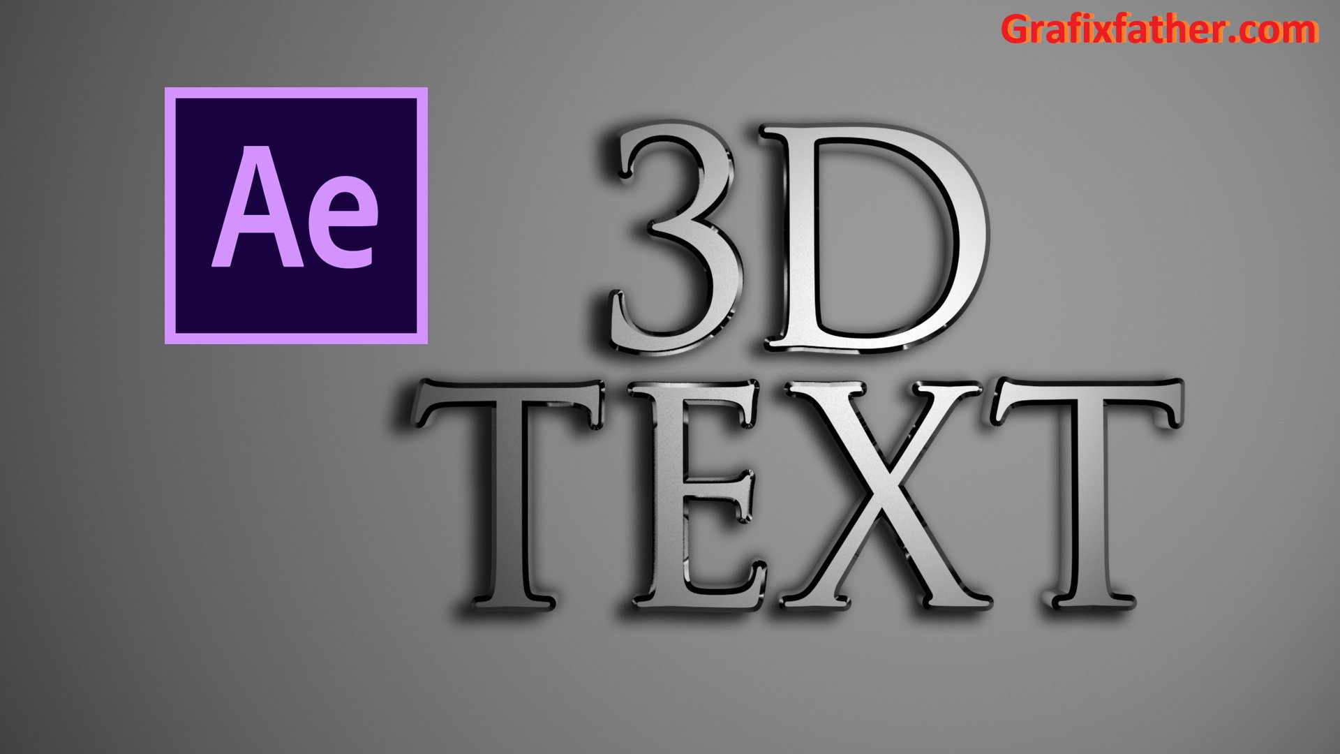 Photorealistic 3D Text in Adobe After Effects