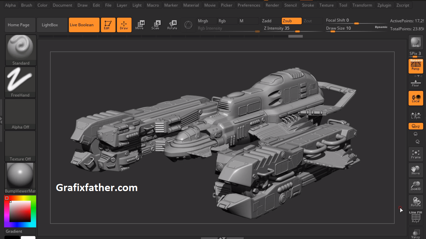SciFi Ship Series in Maya and Zbrush Complete Volume