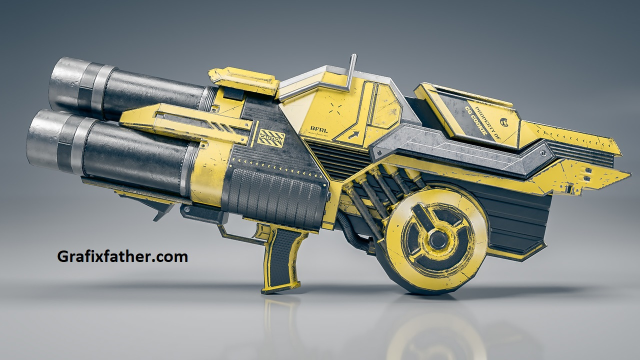 Texturing Weapons in Blender and Substance Painter