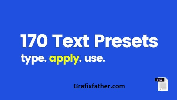 170 Text Presets For After Effects