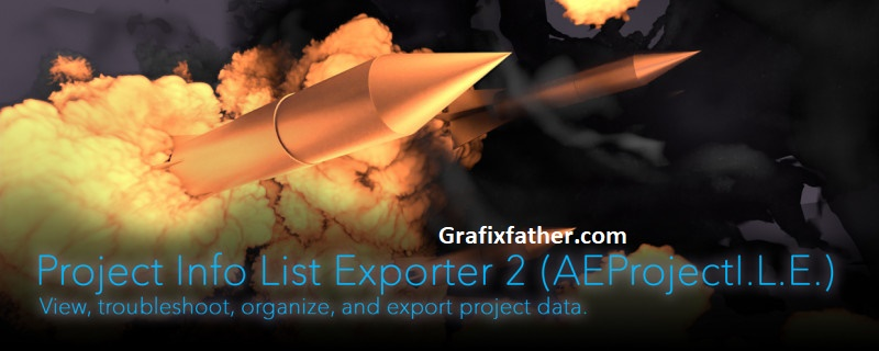 Aescripts Project Info List Exporter 2 latest