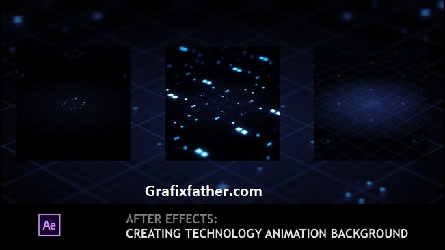 After Effects Creating Technology Animation Background