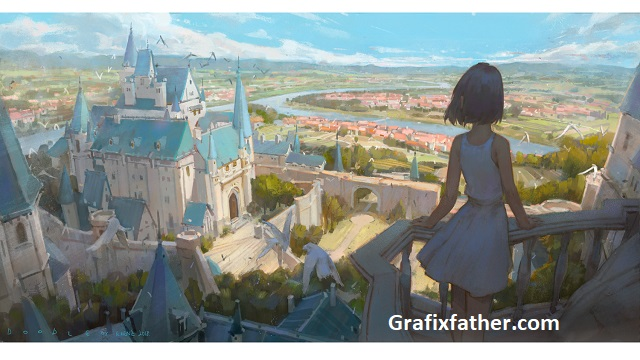 Gumroad Lecture My work Castle steps by Krenz Cushart Free Download
