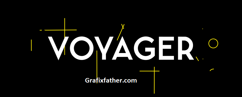Voyager Animated Typeface Aescript Free download