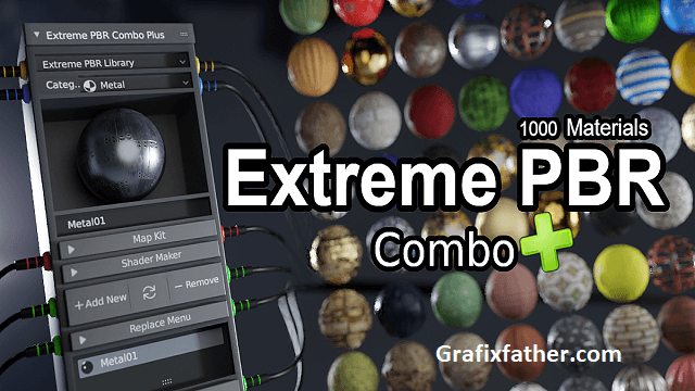 Extreme Pbr Combo With 1000+ Materials Addon For Blender 2.79-2.81-2.82
