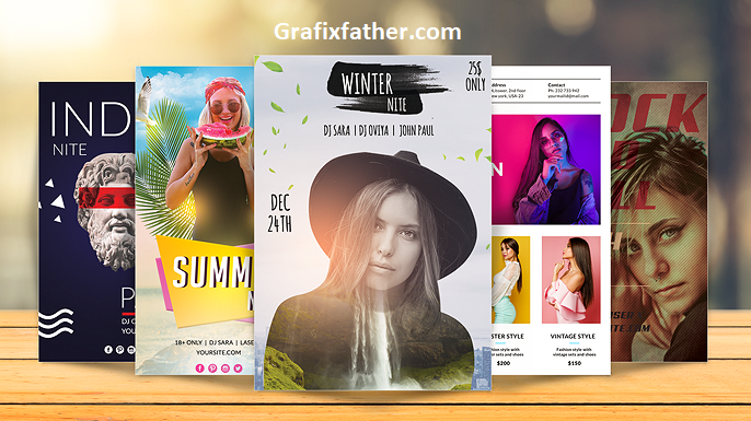 How To Design Flyer Templates In Photoshop In-Depth Tutorial v2