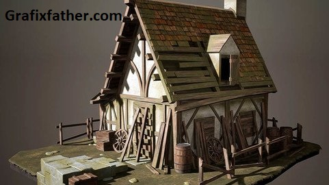 Artstation Creating a Realistic Cabin House for Game in Blender