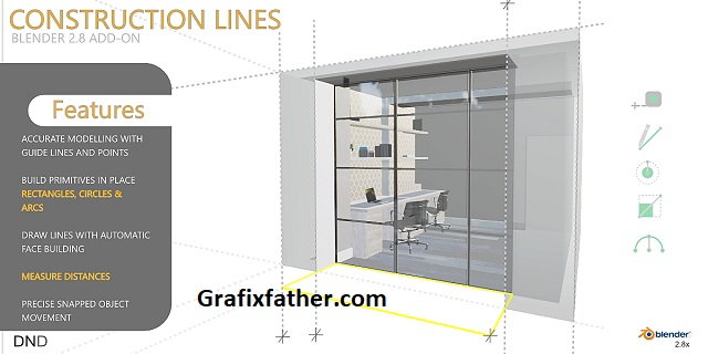 Construction Lines Accurate Cad Modelling Add-On For Blender