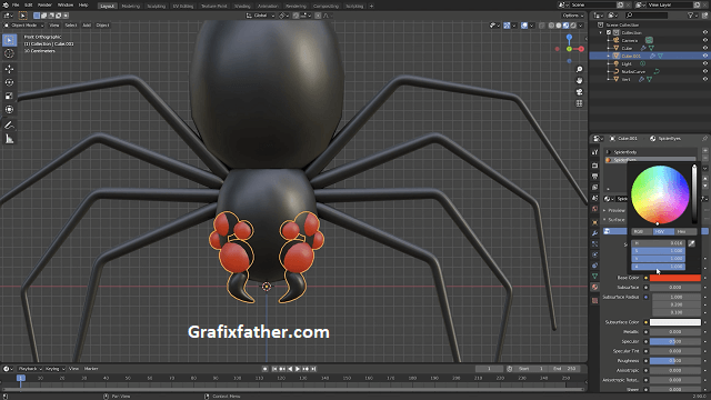 CGCookie Creating an Animated Spooky Spider in Blender 2.9