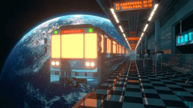 Create A Space Train Scene With Cinema 4D Redshift Render