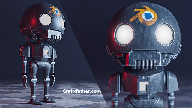 Udemy Blender how to create the tiny k-2SO STAR WAR Robot