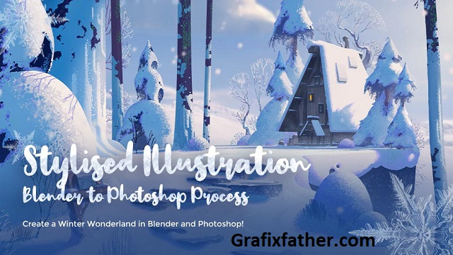 Wingfox Stylised Illustration Blender to Photoshop Process (2021) with Gavin ODonnell
