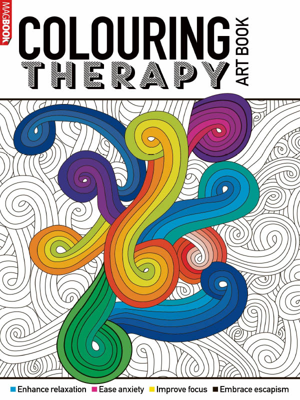 Colouring Therapy Art Book 2021